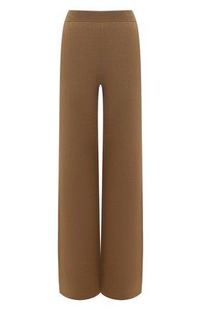Женские шелковые брюки LORO PIANA хаки цвета, арт. FAL1033 | Фото 1