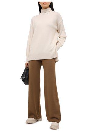 Женские шелковые брюки LORO PIANA хаки цвета, арт. FAL1033 | Фото 2