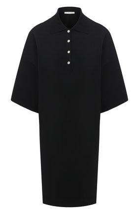 Женское платье из вискозы THE ROW черного цвета, арт. 5366Y319 | Фото 1
