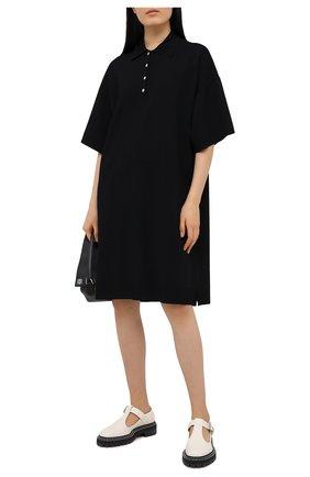 Женское платье из вискозы THE ROW черного цвета, арт. 5366Y319 | Фото 2