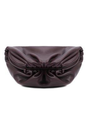 Женская поясная сумка chain pouch BOTTEGA VENETA темно-фиолетового цвета, арт. 651445/VCP41 | Фото 1 (Материал: Натуральная кожа; Стили: Классический; Размер: small)