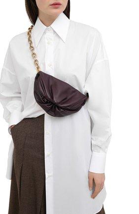 Женская поясная сумка chain pouch BOTTEGA VENETA темно-фиолетового цвета, арт. 651445/VCP41 | Фото 2 (Материал: Натуральная кожа; Стили: Классический; Размер: small)