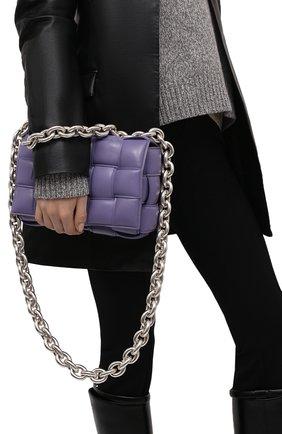 Женская сумка chain cassette BOTTEGA VENETA сиреневого цвета, арт. 631421/VBWZ0 | Фото 2