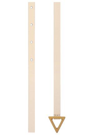 Женский кожаный ремень BOTTEGA VENETA белого цвета, арт. 619759/VMAU1   Фото 2