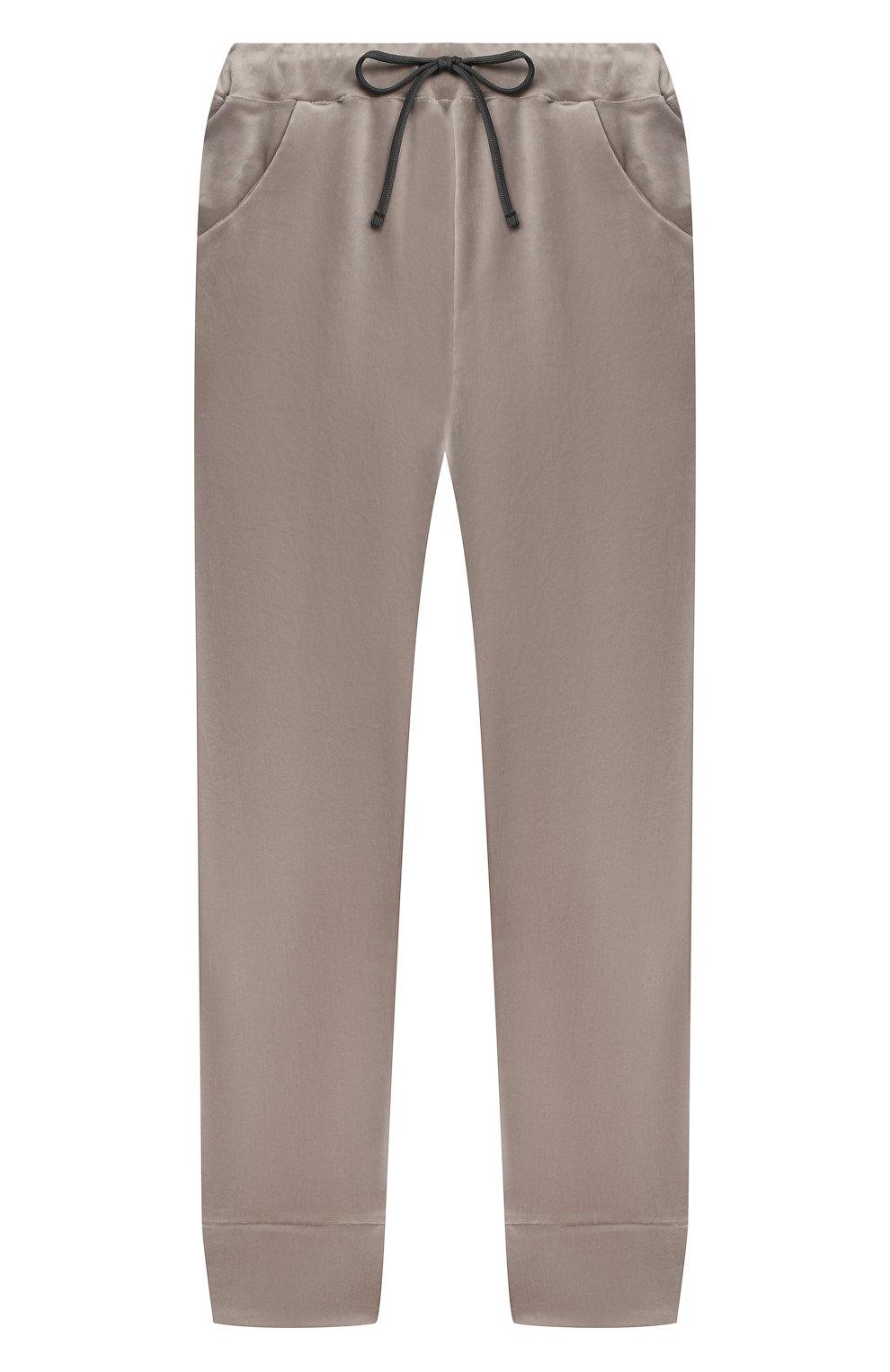 Детские бархатные брюки CASILDA Y JIMENA серого цвета, арт. 771160019 | Фото 1