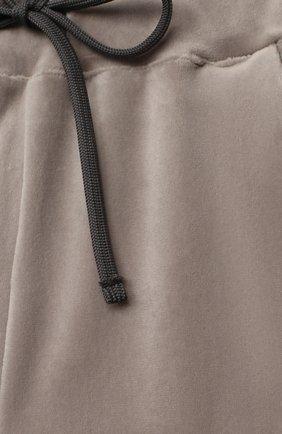 Детские бархатные брюки CASILDA Y JIMENA серого цвета, арт. 771160019 | Фото 3