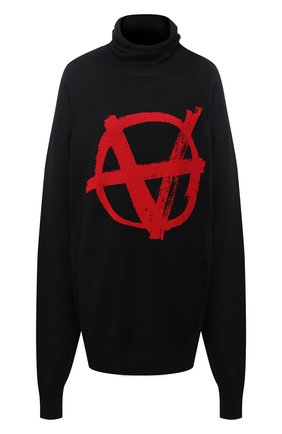 Женский шерстяной свитер VETEMENTS черного цвета, арт. UE51KN300R 1399/W | Фото 1