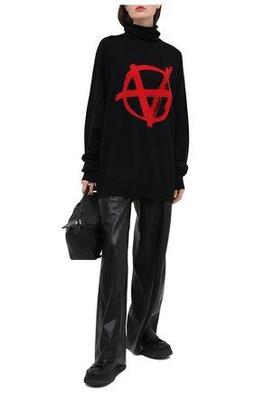 Женский шерстяной свитер VETEMENTS черного цвета, арт. UE51KN300R 1399/W | Фото 2