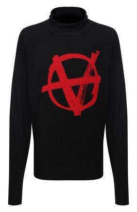 Мужской шерстяной свитер VETEMENTS черного цвета, арт. UE51KN300R 1399/M   Фото 1