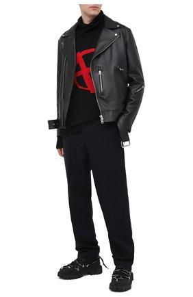 Мужской шерстяной свитер VETEMENTS черного цвета, арт. UE51KN300R 1399/M   Фото 2