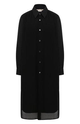 Женское хлопковое платье COMME DES GARCONS черного цвета, арт. GF-B009-051 | Фото 1