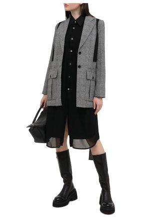 Женское хлопковое платье COMME DES GARCONS черного цвета, арт. GF-B009-051 | Фото 2