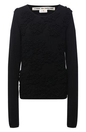 Женский шерстяной пуловер COMME DES GARCONS черного цвета, арт. GF-N008-051 | Фото 1