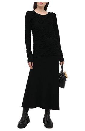 Женский шерстяной пуловер COMME DES GARCONS черного цвета, арт. GF-N008-051 | Фото 2