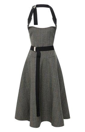 Женское шерстяное платье JUNYA WATANABE хаки цвета, арт. JF-S007-051 | Фото 1