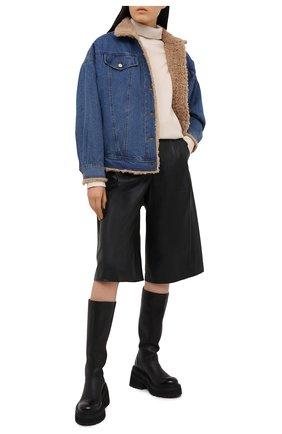 Женская джинсовая куртка J BRAND синего цвета, арт. JB003095   Фото 2