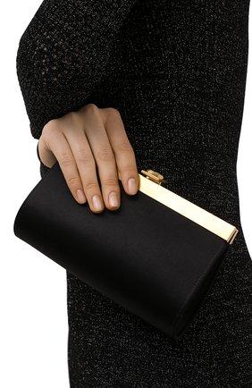 Женский клатч BALMAIN черного цвета, арт. VN1S626/TRAS | Фото 2