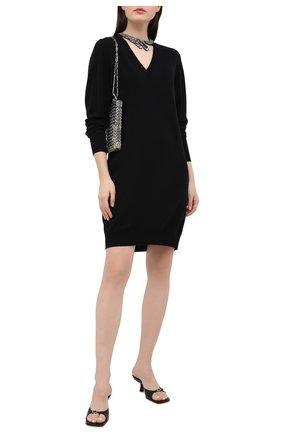 Женское шерстяное платье NUDE черного цвета, арт. 1101067/DRESS | Фото 2