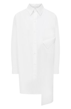 Женская хлопковая рубашка YOHJI YAMAMOTO белого цвета, арт. NR-B02-001 | Фото 1