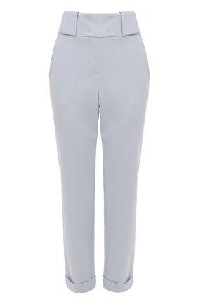 Женские шерстяные брюки GIORGIO ARMANI голубого цвета, арт. 1SHPP0G5/T01HK | Фото 1