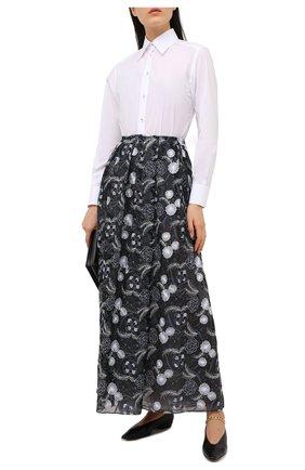 Женская шелковая юбка GIORGIO ARMANI серого цвета, арт. 1SHNN04L/T02BB | Фото 2