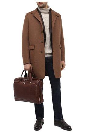 Мужская кожаная сумка для ноутбука BRUNELLO CUCINELLI коричневого цвета, арт. MBSBU391 | Фото 2