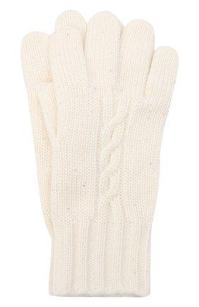 Детские перчатки из кашемира и шелка LORO PIANA белого цвета, арт. FAL4479 | Фото 1