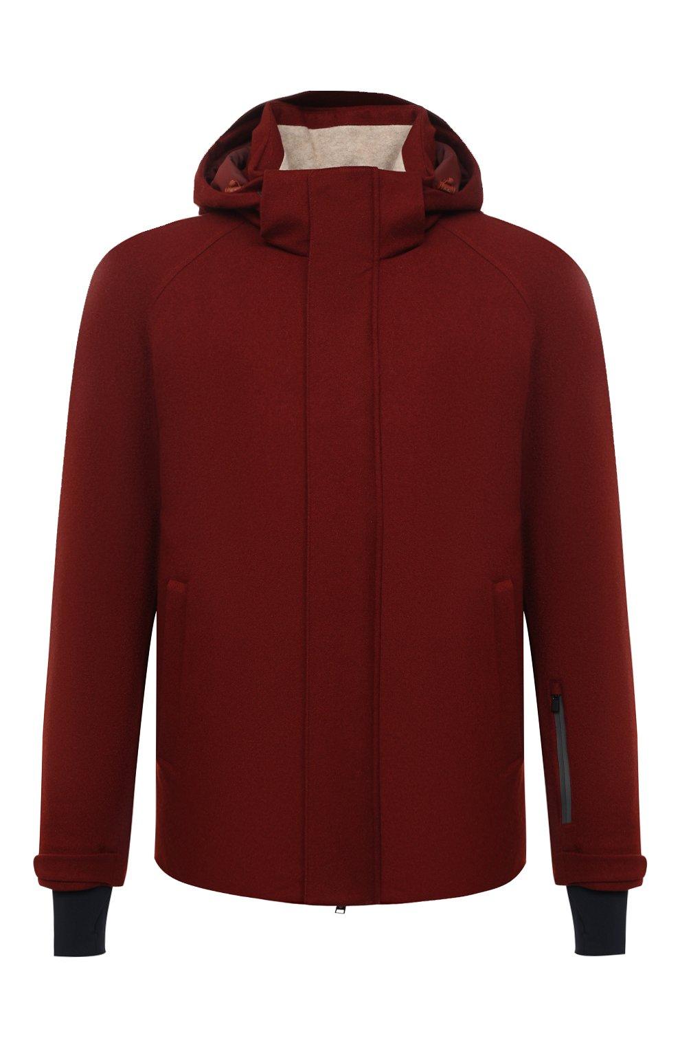 Мужская куртка из кашемира и шелка LORO PIANA бордового цвета, арт. FAI8953 | Фото 1 (Кросс-КТ: Куртка; Мужское Кросс-КТ: шерсть и кашемир; Материал внешний: Шерсть, Кашемир; Материал утеплителя: Шерсть; Рукава: Длинные; Длина (верхняя одежда): Короткие; Стили: Кэжуэл)
