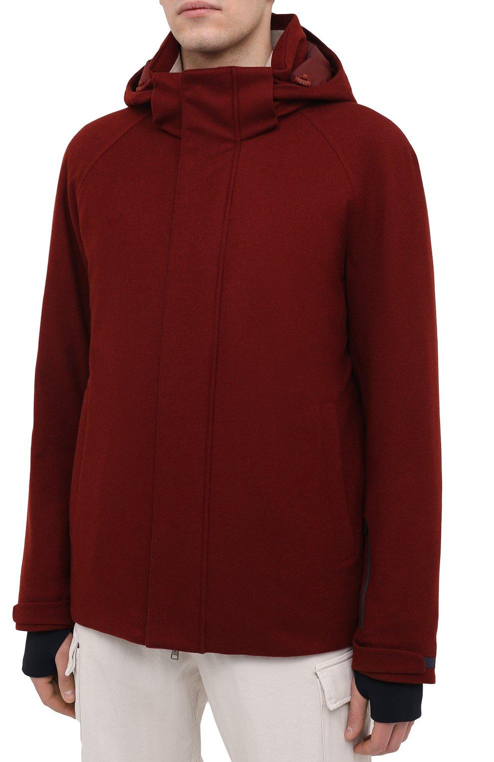 Мужская куртка из кашемира и шелка LORO PIANA бордового цвета, арт. FAI8953 | Фото 3 (Кросс-КТ: Куртка; Мужское Кросс-КТ: шерсть и кашемир; Материал внешний: Шерсть, Кашемир; Материал утеплителя: Шерсть; Рукава: Длинные; Длина (верхняя одежда): Короткие; Стили: Кэжуэл)