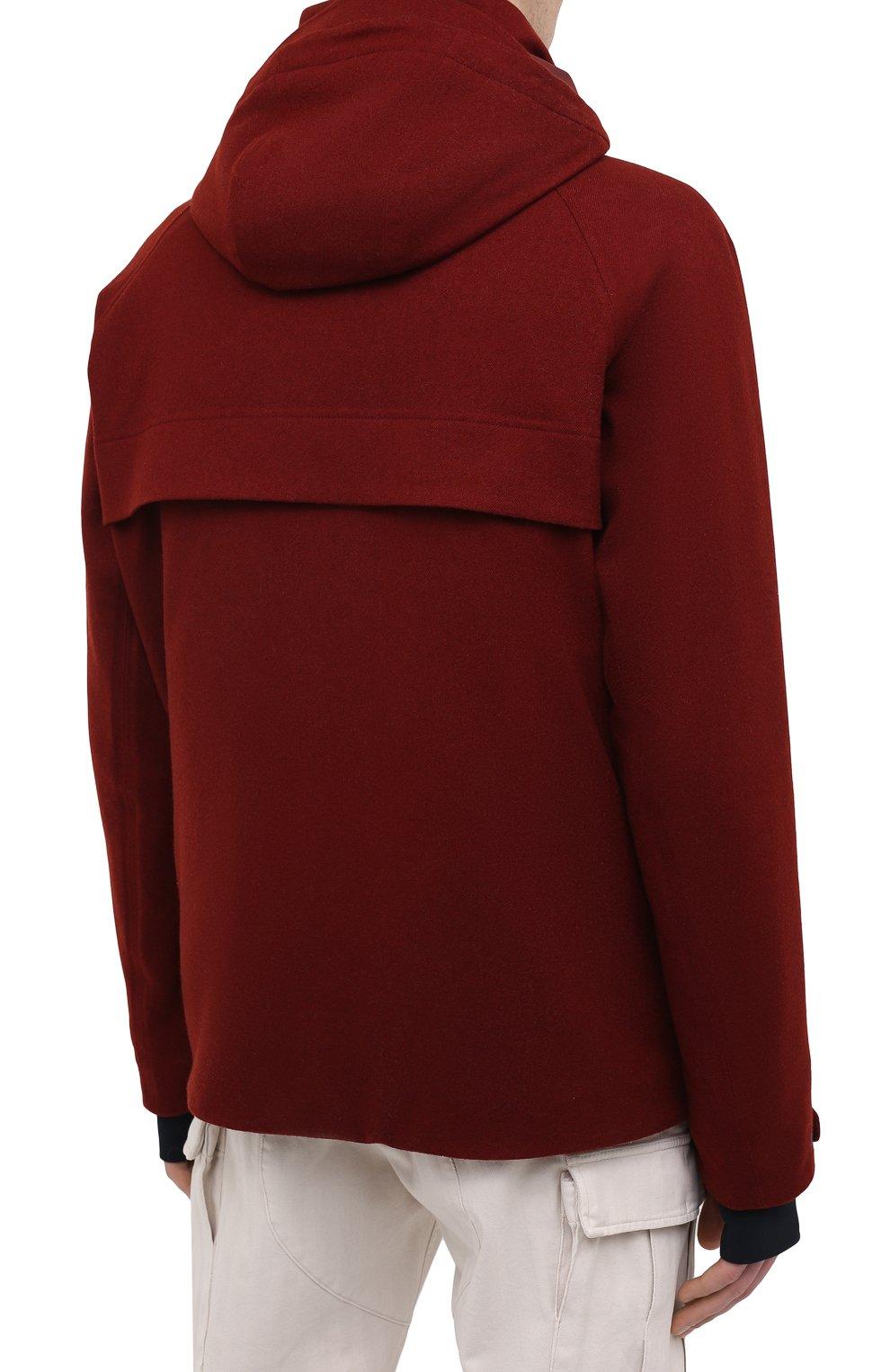 Мужская куртка из кашемира и шелка LORO PIANA бордового цвета, арт. FAI8953 | Фото 4 (Кросс-КТ: Куртка; Мужское Кросс-КТ: шерсть и кашемир; Материал внешний: Шерсть, Кашемир; Материал утеплителя: Шерсть; Рукава: Длинные; Длина (верхняя одежда): Короткие; Стили: Кэжуэл)