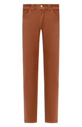 Мужские джинсы LORO PIANA коричневого цвета, арт. FAG1329 | Фото 1