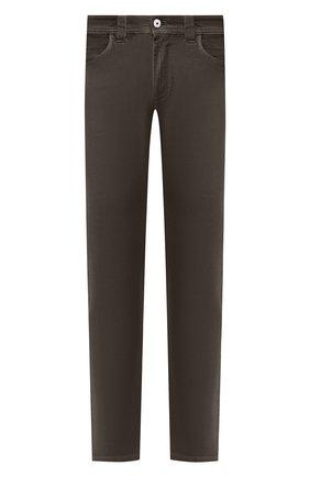 Мужские джинсы LORO PIANA хаки цвета, арт. FAG1329 | Фото 1