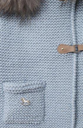 Детский шерстяной кардиган CASILDA Y JIMENA голубого цвета, арт. 774216171/5-6A   Фото 3 (Материал внешний: Шерсть; Рукава: Длинные; Девочки Кросс-КТ: Кардиган-одежда; Ростовка одежда: 5 лет   110 см, 6 лет   116 см)
