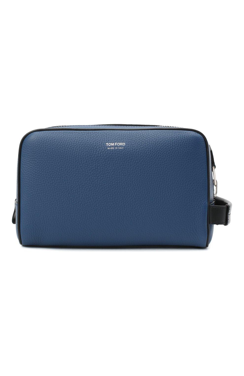 Мужской кожаный несессер TOM FORD синего цвета, арт. Y0301P-LCL037 | Фото 1 (Материал: Натуральная кожа)