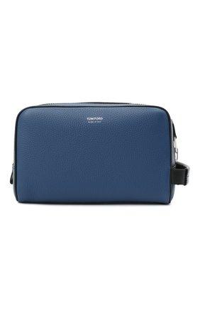 Мужской кожаный несессер TOM FORD синего цвета, арт. Y0301P-LCL037 | Фото 1