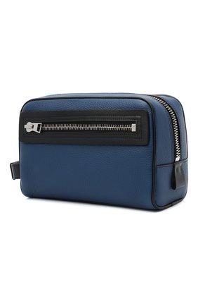 Мужской кожаный несессер TOM FORD синего цвета, арт. Y0301P-LCL037 | Фото 2