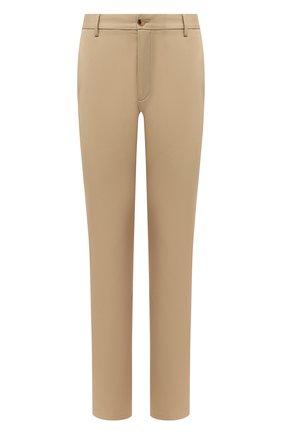 Мужской хлопковые брюки BURBERRY бежевого цвета, арт. 8018703 | Фото 1