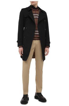Мужские хлопковые брюки BURBERRY бежевого цвета, арт. 8018703 | Фото 2