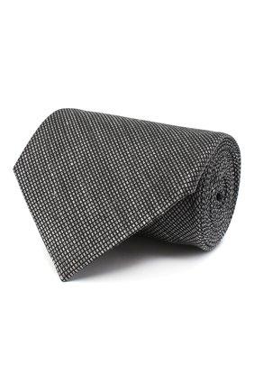 Мужской галстук из шелка и льна TOM FORD серого цвета, арт. 9TF11/XTF | Фото 1