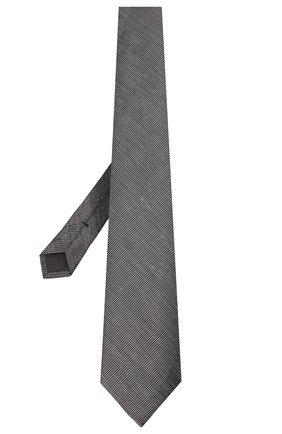 Мужской галстук из шелка и льна TOM FORD серого цвета, арт. 9TF11/XTF | Фото 2