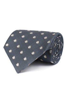 Мужской шелковый галстук TOM FORD синего цвета, арт. 9TF26/XTF | Фото 1