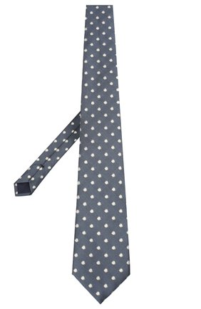 Мужской шелковый галстук TOM FORD синего цвета, арт. 9TF26/XTF | Фото 2