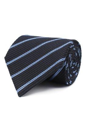 Мужской шелковый галстук TOM FORD темно-синего цвета, арт. 9TF31/XTF | Фото 1