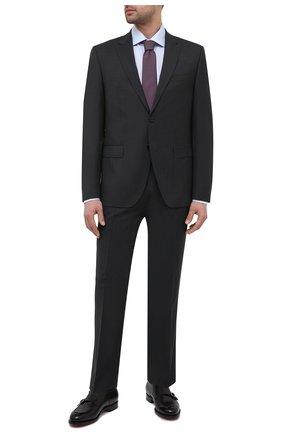 Мужской шерстяной костюм BOSS темно-серого цвета, арт. 50444038 | Фото 1