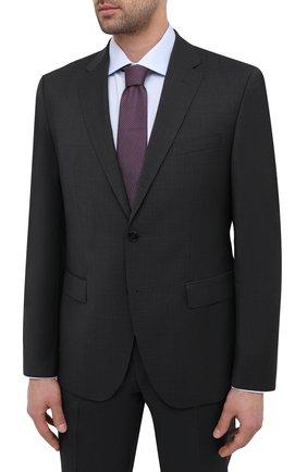 Мужской шерстяной костюм BOSS темно-серого цвета, арт. 50444038 | Фото 2