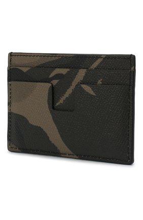 Мужской кожаный футляр для кредитных карт TOM FORD хаки цвета, арт. Y0232T-ICL022 | Фото 2