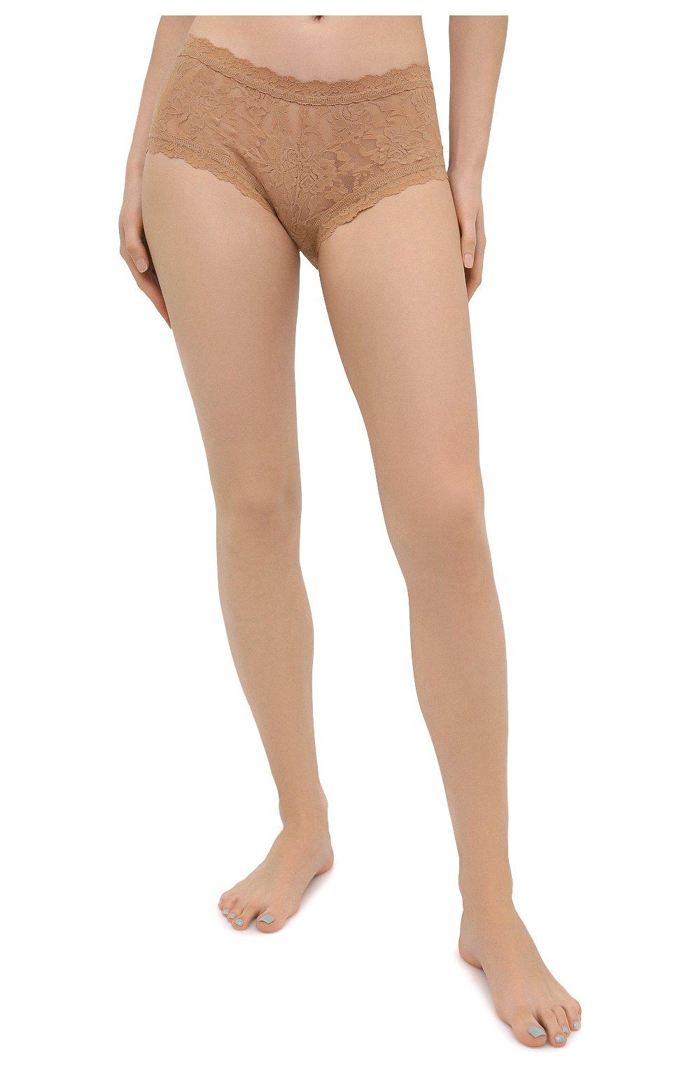 Женские трусы-шорты HANKY PANKY бежевого цвета, арт. 4812   Фото 2