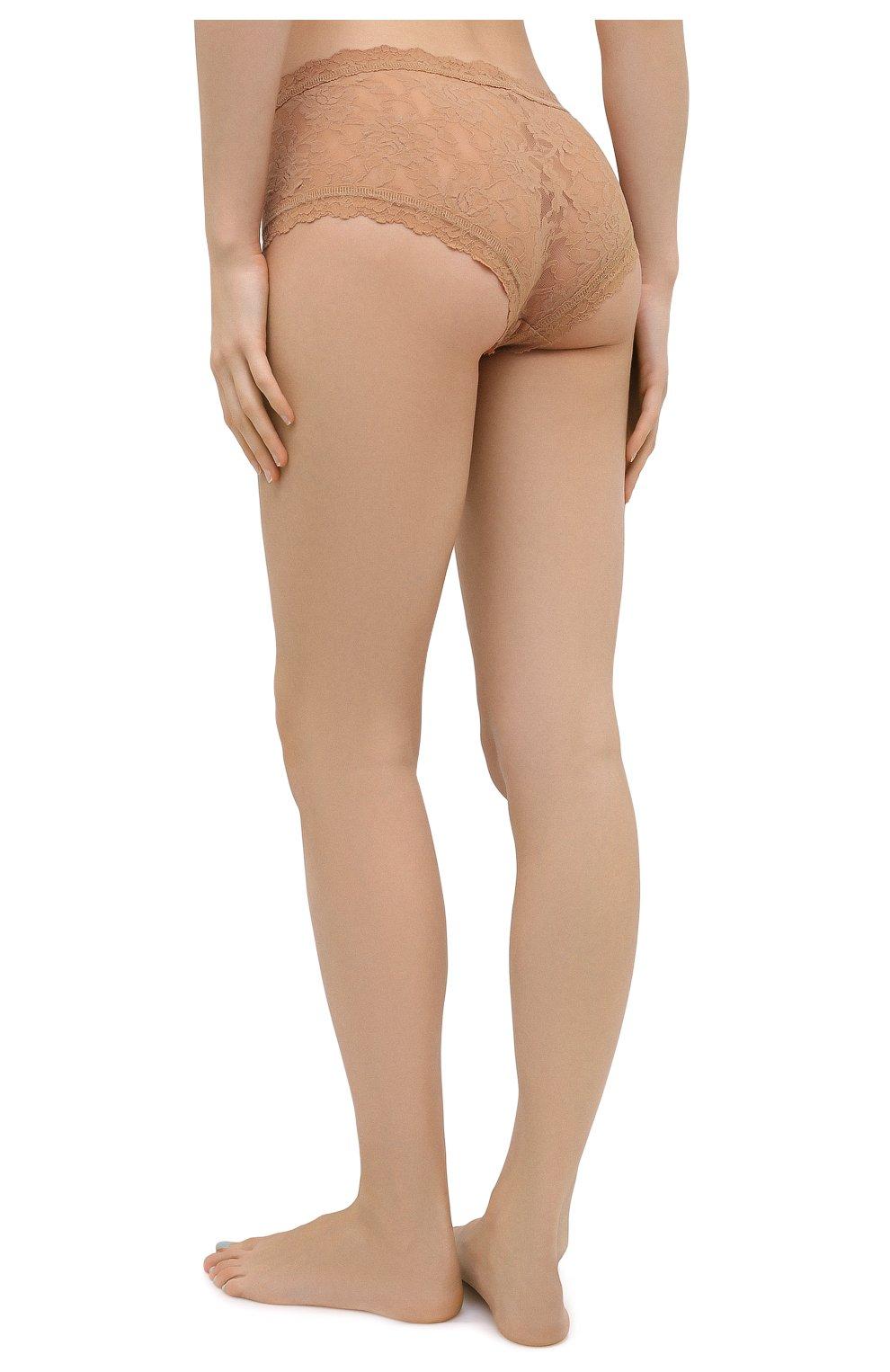 Женские трусы-шорты HANKY PANKY бежевого цвета, арт. 4812   Фото 3