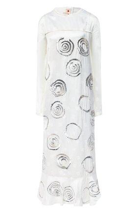 Женское платье из вискозы MARNI белого цвета, арт. ABMA0526S1/TV773 | Фото 1