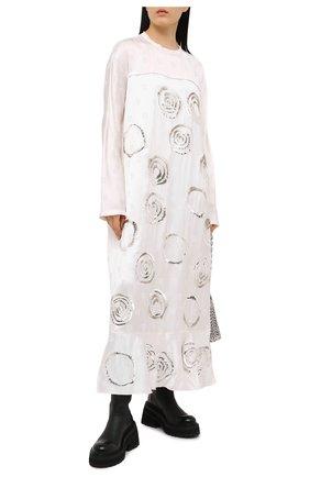 Женское платье из вискозы MARNI белого цвета, арт. ABMA0526S1/TV773 | Фото 2